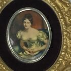 VTG Cameo Creation Oval Gold Wall Plaque Hanging Countess of Blessington