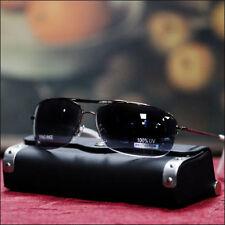 New Half Rimless Aviator Mens Sunglasses Fashion Casual Trendy Chrome/White Tip
