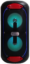 "Wireless Portable Bluetooth 5""x2 Extra Bass 1000 Watts Speaker FM Radio - WIND5"