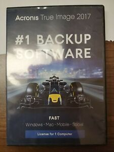 Acronis True Image 2017 for 1 Device #1 Backup Software new