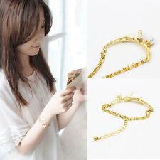 Frauen Mini-Kaninchen Metall Armband elegantes Gold Ketten Armband Schmuck RUDE