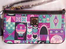 Disney Dooney & and Bourke It's A Small World Clock Face Wristlet Clutch Bag 5