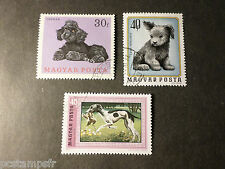 HONGRIE HUNGARY, LOT 3 timbres THEME CHIENS, DOGS, oblitérés, VF used STAMPS