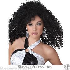 W214 Dancing Queen Black Curl Retro Go Go 70s 60s Costume Ladies Halloween Wig