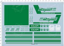 Detail Up 1/18 Scale Dubai Police Car Model Kit Water Slide Decal 14*21cm 62000B