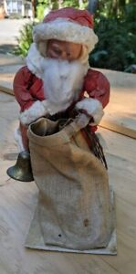 ANTIQUE BISQUE HEAD SANTA HEUBACH,  CANDY CONTAINER RELATED, CHRISTMAS FIGURE