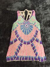 ASOS Sequin Embellished Expensive Pastel Coloured Holiday Dress Size 16