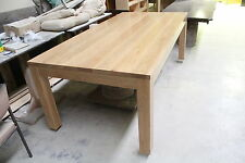 local custom made solid american oak hardwood timber dining table