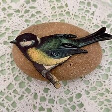 Exotic bird brooch, Laser cut wooden jewelry, Bird pin, Wood lapel badge