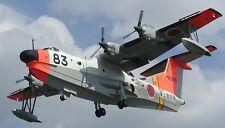Shin Meiwa US-1 Japan Air-Sea Rescue Aircraft Wood Model Replica Free Shipping