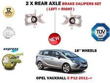 für Opel Opel Zafira C 2011- > NEU 2x Hinten Links+rechts Bremssättel Set
