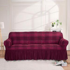 1/2/3/4 Seater Bubble Lattice Sofa Covers Spandex Slipcover Furniture Protector