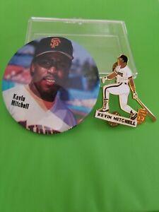 San Francisco Giants Kevin Mitchell Rare Pin, Pinback & Round Photo Button NOS