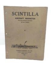 Scintilla Aircraft Magnetos Parts List & Service Instructions Bendix Corp 1936