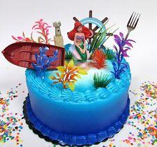 Little Mermaid PRINCESS ARIEL Themed Birthday Cake Topper Set Featuring Ariel.