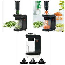 Salter 3 In 1 Electric Vegetables Fruits Spiralizer Peeler Twister Slicer Cutter