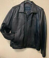 NEW TOMMY HILFIGER  Mens XL Black Leather Jacket