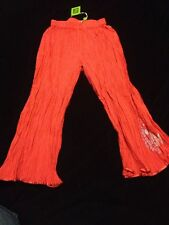NWT Oilily 116 (5-6), Girls Red Embroidered Fish Summer Pants RV $80