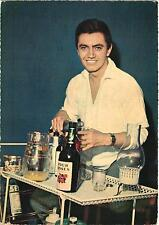 REX GILDO SINGER AND MOVIE STAR DRINKING whisky 1970S POSTCARD