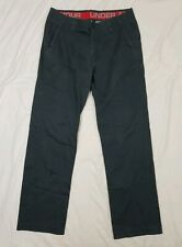 Under Armour Mens Gray Casual Khaki Pants Size 34x31