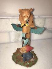 Tim Wolfe & Tom Clark 1998 Bear Totem Pole Gnome Track Meet Figure #6352 Euc
