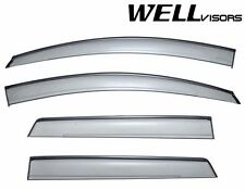 For 07-14 Ford Edge WellVisors Side Window Visors W/ Black Trim