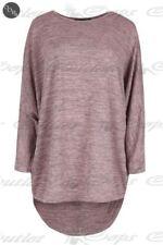 Maglie e camicie da donna maniche a 3/4 rosa in poliestere
