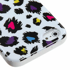 Apple iPhone 5 5S SE TPU CANDY Gel Flexi Skin Case Cover Jagged Colorful Leopard