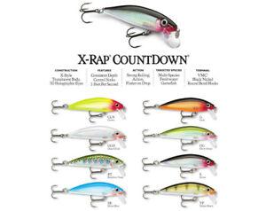 Rapala X-Rap Countdown // XRCD05 // 5cm 4g Fishing Lures (Choice of Colors)