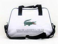 LACOSTE L.12.12 WHITE GREEN MENS SPORT DESIGNER GYM BAG HOLDALL TRAVEL BAG *NEW