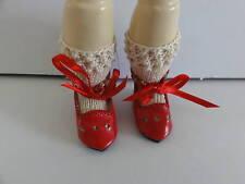 """leather shoes for DOLL BLEUETTE 4 cm Model """"Julie"""" hole - G. BRAVOT"""