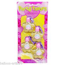 4 princesse bijou mode partie rose bouteilles de bulles colliers