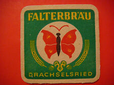 Beer Bar Coaster: Falterbräu Drachselsried ~ Bavaria, GERMANY ~ Butterfly Design