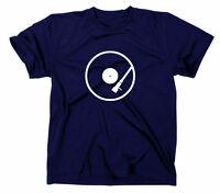 T-Shirt Schallplatte Vinyl Schnecke lustig DIsco DJ MC Music Retro Herren S-5XL
