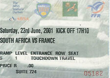 SOUTH AFRICA v FRANCE 1st Test 2001 RUGBY TICKET