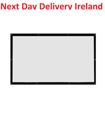 16:9 Projection Projector Screen Home Movie Wall White Mounted Hanging Hang Up