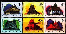 Poland 1974 Sc2023-8Mi2302-7 6v mnh Wooden Buildings