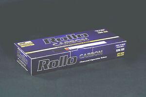 """1100 NEW """"CARBON"""" EMPTY ROLLO TUBES Cigarrette Tobbacco Filter Ventti"""
