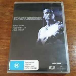 Schwarzenegger Icon Collection DVD R4 Like New Raw Deal Red Sonja Red Heat