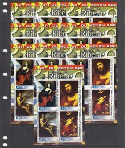 Jusepe de Ribera Painting Art 2003 Ivory Coast 4 v set perf X 10 Wholesale lot