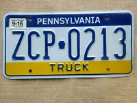American number licence plate Pennsylvania Truck vintage vintage embossed USA