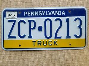 American number licence plate Pennsylvania Truck vintage vintage embossed USA