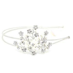 Wedding Rhinestones Maple leaf silver Metal Head Jewelry Headband Head Piece