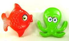 FISH & OCTOPUS SAND MOLD SET of 2 Beach Toys Sandbox Summer Fun Outdoor I