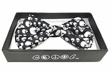 BEYONDFASHION MEN WOMEN UNISEX NECKWEAR TUXEDO ADJUSTABLE BOW-TIE BIG SKULLS