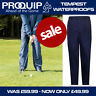 ProQuip Men's Tempest Waterproof Golf Trousers - Navy Blue NEW! 2020 *REDUCED*