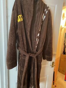 Mens Large Star Wars Chewbacca Dressing Gown Robe