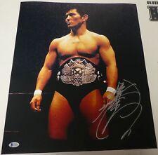 Minoru Suzuki Signed 16x20 Photo BAS COA w Pancrase Belt New Japan Pro Wrestling