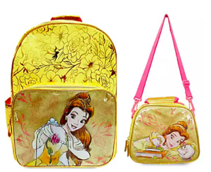 Disney Beauty & the Beast BELLE BACKPACK & LUNCH SET NEW Fast Ship