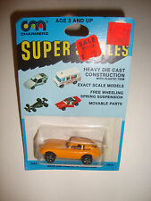 New Old Stock Vintage Charmerz Super Singles Die Cast Model Car Toy Orange